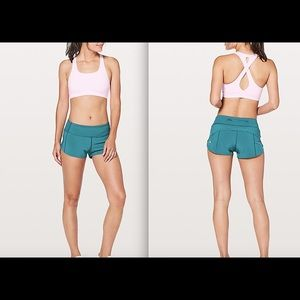 "Lululemon Speed Up Short 2.5"" Pacific Teal NWT"